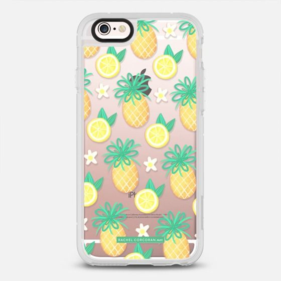 Summer Pineapple Lemonade - protective iPhone 6 phone case in Clear and Clear by @rachelcorcoran #food   @casetify
