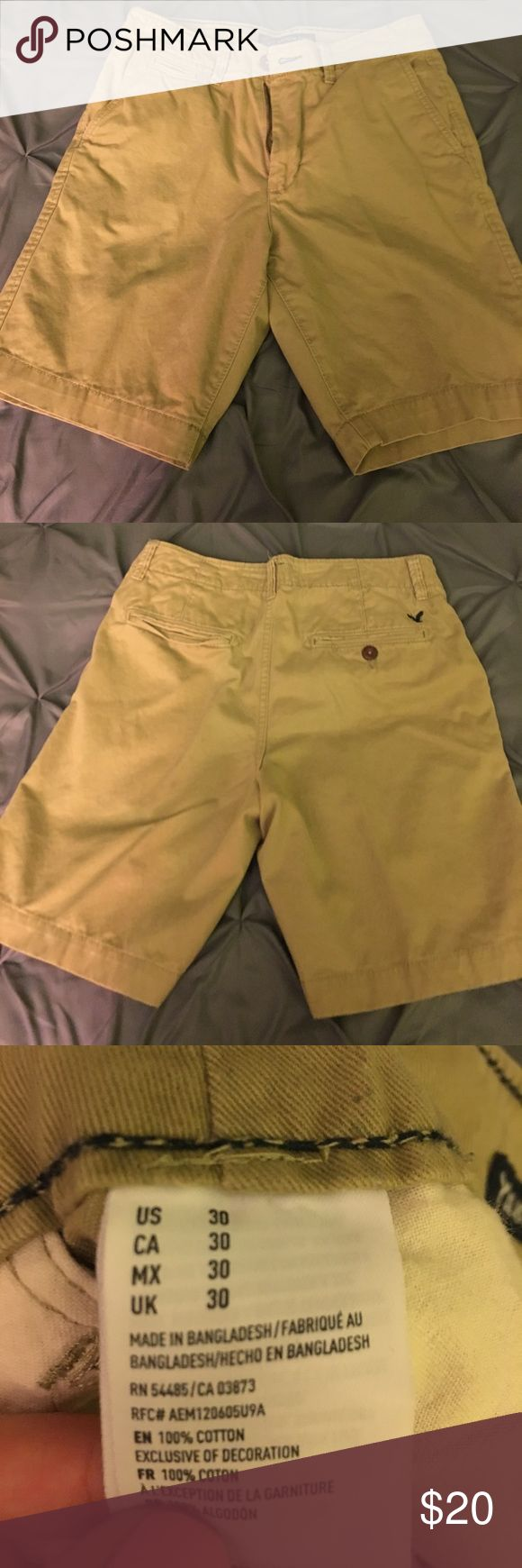 Men's Khaki Shorts Perfect condition. No trades. American Eagle Outfitters Shorts