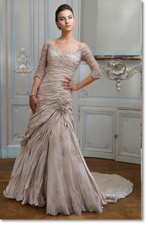 Almost something I would have my bridesmaids wear, but with straps instead of sleeves