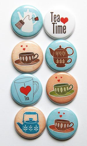 Tea Time Flair by kidsmom1999 on Etsy, $6.00