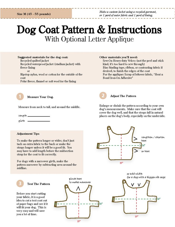 Free sewing patterns for dog clothes - new zealand of gold discovery ...
