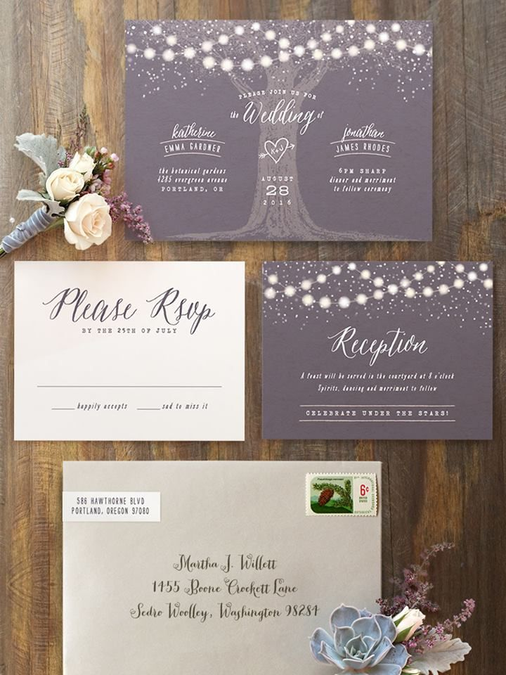 Magical wedding invitation suite to set the tone for your perfect summer evening wedding. Shop @minted Now