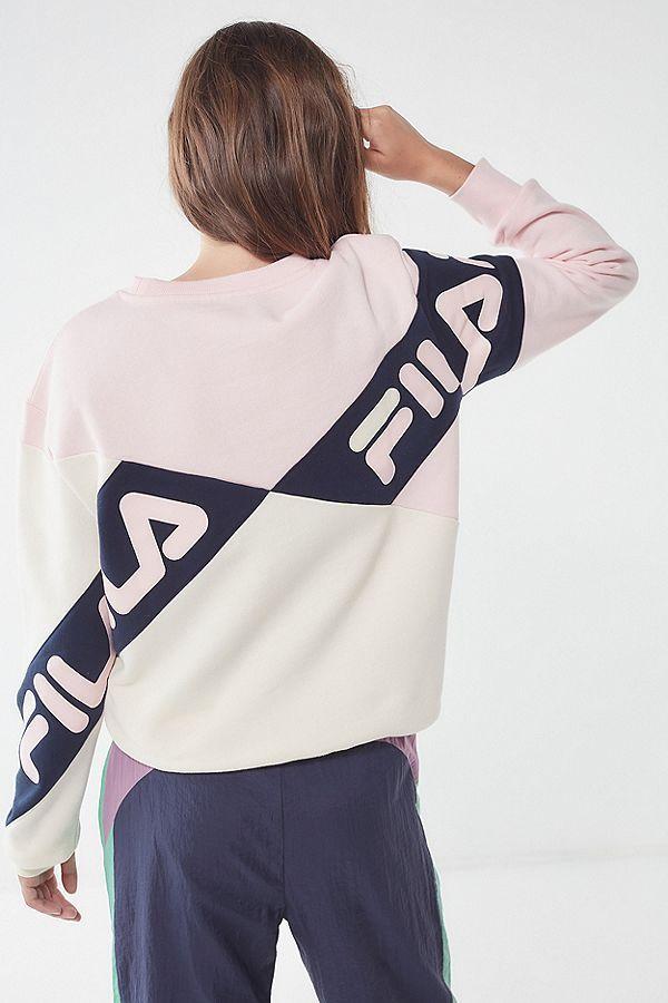 43322af9e0a9 FILA + UO Lidia Crew-Neck Sweatshirt in 2019   Fila   Crew neck ...