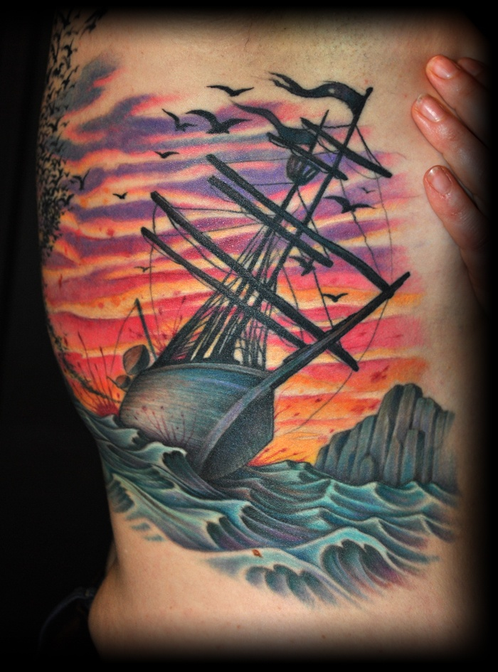 pirateship tattoo colors