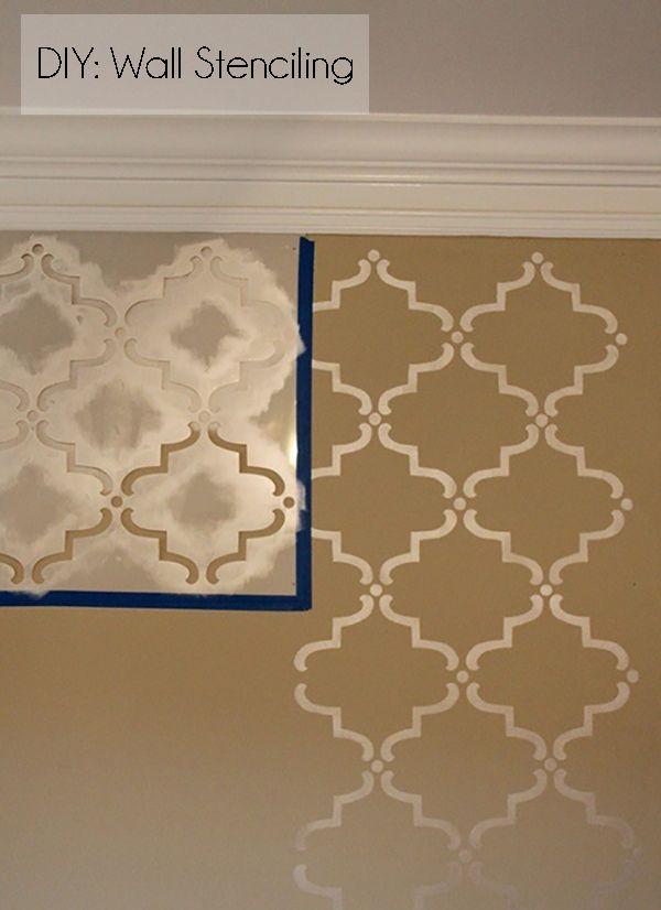 wall stenciling - a DIY tutorial - www.lovelucygirl.com