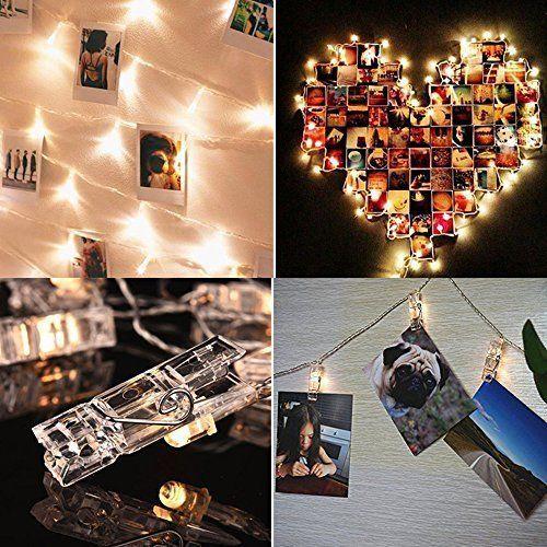 80 LED Photo Clips String Lights 33 Feet Pictures Display Light Wedding Party  #WEDDINGLIGHTSDECORATION #MultipurposePartyWeddingWeddingParty