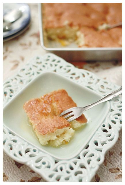 Peach cake - holy cow this sounds so good! mmmm...warm with some vanilla ice cream or just a cup of coffee!:)