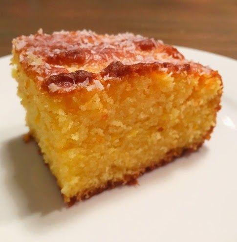 Whole Orange Semolina Cake with Lemon Drizzle (Recipe)