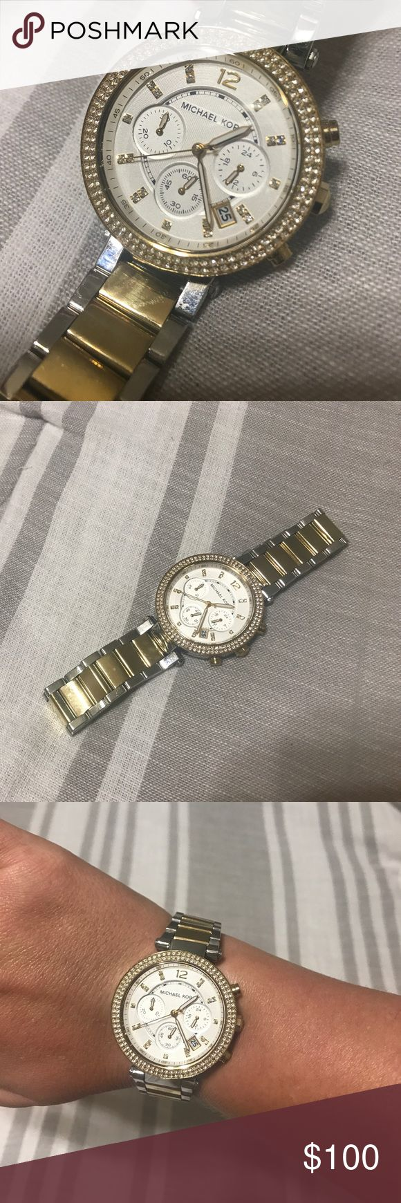 Michael Kors Women's Gold and Silver Watch Stunning gold and silver authentic women's Michael Kors watch! Model MK-5626! Watch has been worn and does have some scratches from normal wear and tear Michael Kors Accessories Watches
