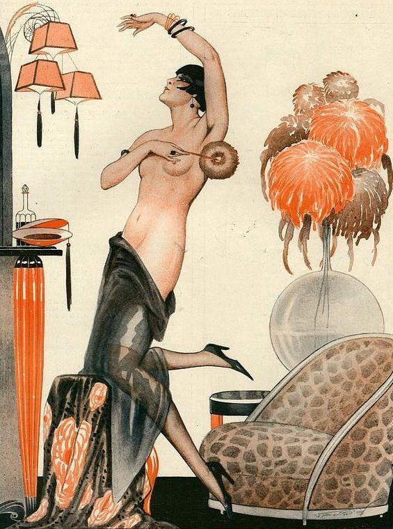 Illustration by Vald 'Es, or La Vie Parisienne, 1920s