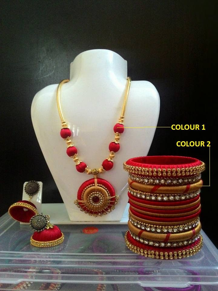Red and Gold Necklace Set with bangles