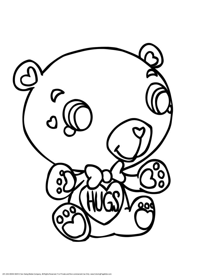 valentine 39 s coloring pages Teddy