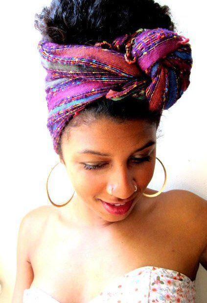 hair, like scarves, can be an accessory, and she is wearing both very well! beautiful, black woman