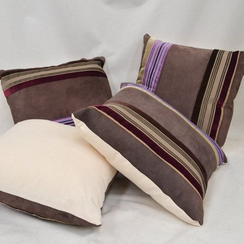 Purple Striped Velvet & Reclaimed Suede Luxury by RECOVERTEAM