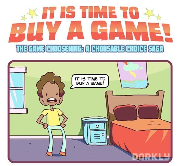 A Choose-Your-Own-Adventure Comic About Buying Video Games by Dorkly