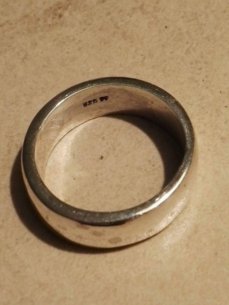 Bred Vikinge mande ring.  8mm Sølv Str. 64, 69, 71, 72, 74 390 kr.