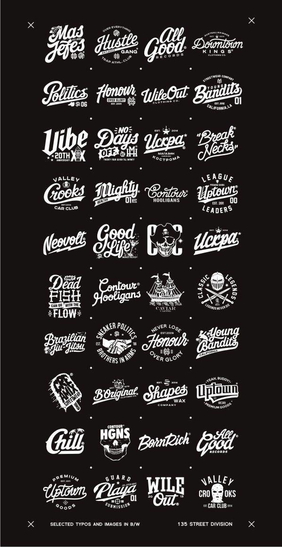 Ausgewählte Typografien, Logos und Bilder. Ich wa…