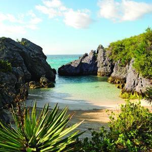 Secluded beach in Bermuda