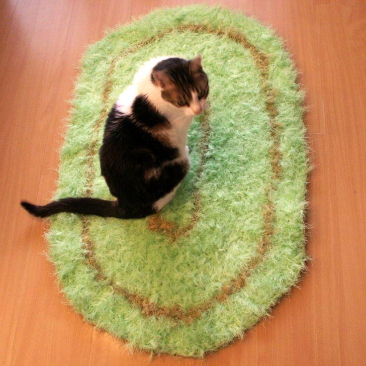 kobereček - hadrák - háčkovaný