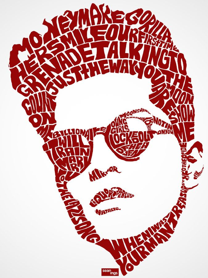 Typography Portraits by Sean Williams