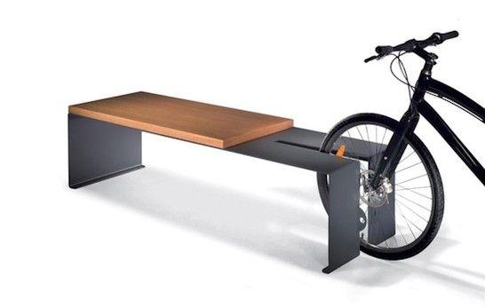 bike rack plus bench