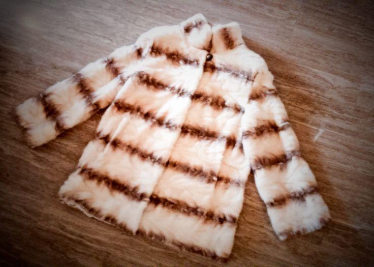 Fur jacket/ Real fur/ Mink fur/ gold-white color by ReginaFurs on Etsy