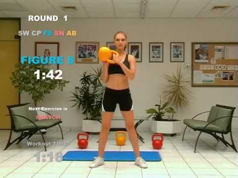 FAT  LOSS  3 Minute CARDIO and AB Workout with Kettlebell-love my kettle bells