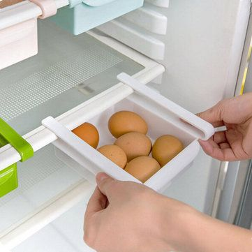 Kitchen Refrigerator Fridge Storage Rack Freezer Shelf Holder Under Table Organization
