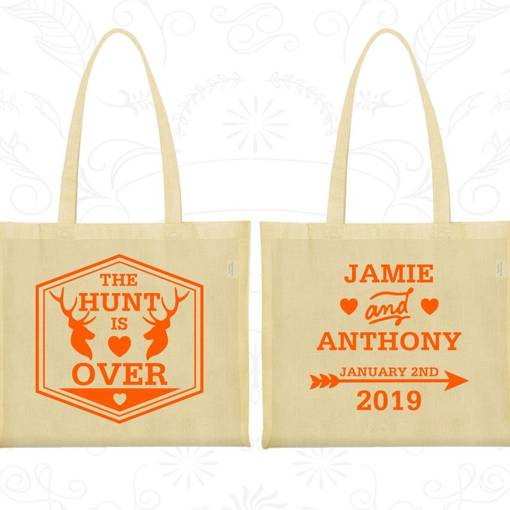 The Hunt is Over Bags, Custom Large Tote Bags, Antler Wedding Bags, Deer Antler Bags, Wedding Party Totes (272)
