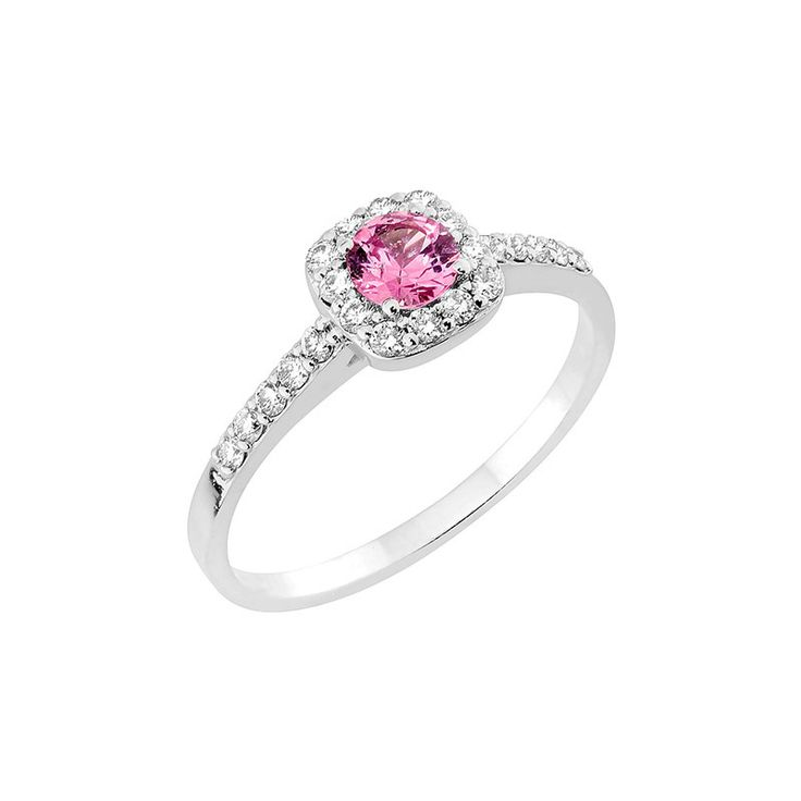 Precious-sormus, Malmin korupaja. Suloisella pinkillä safiirilla viimeistelty Precious-sarjan timanttisormus on Malmin Korupajan omaa sormustuotantoa. Sormuksessa on keskellä pinkki safiiri 0,30ct ja timanttien yhteispaino on 0,20ct, W/Si. www.korupaja.fi