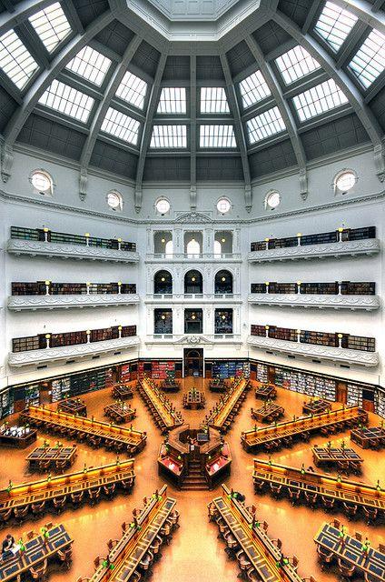 La Trobe Reading Room by Wojtek Gurak, via Flickr showing Dome, State Library of Victoria.  Melbourne Australia