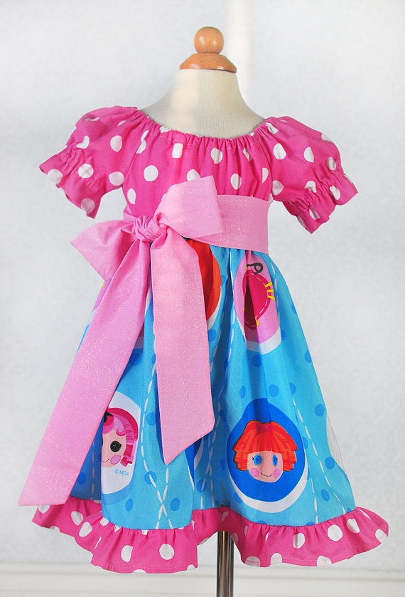 Birthday Lalaloopsy Party Dress Could so make this for my Chloe bug. But as a swimsuit cover instead! :)