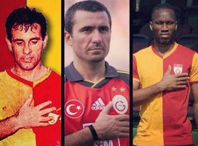 Metin Oktay, Gheorghe Hagi, Didier Drogba.