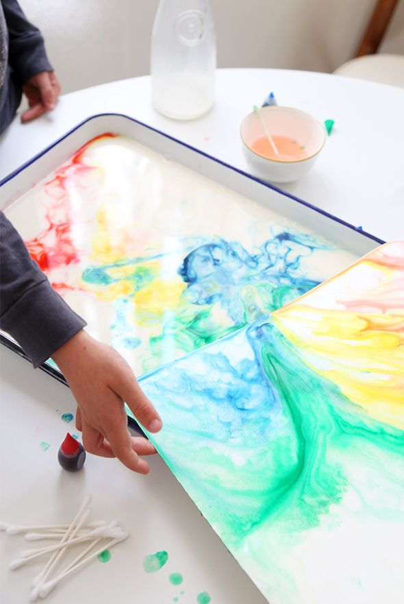 After School Kid Crafts: How to Make Milk Art | Say Yes