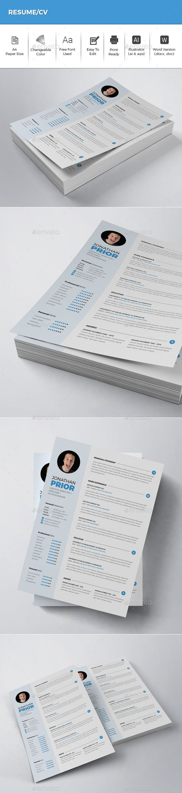 364 best CV / MODELOS images on Pinterest | Resume, Resume design ...