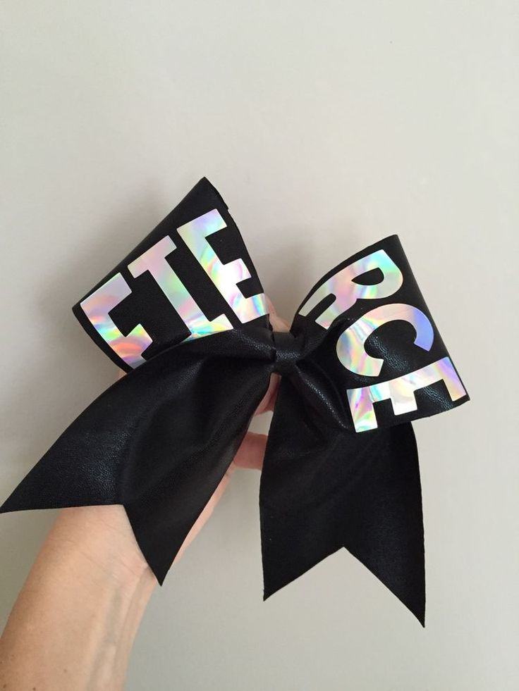 FIERCE Black Spandex Holographic Cheer Bow Dance Team Hair Bow Big! Professional in Clothing, Shoes & Accessories, Kids' Clothing, Shoes & Accs, Girls' Accessories | eBay