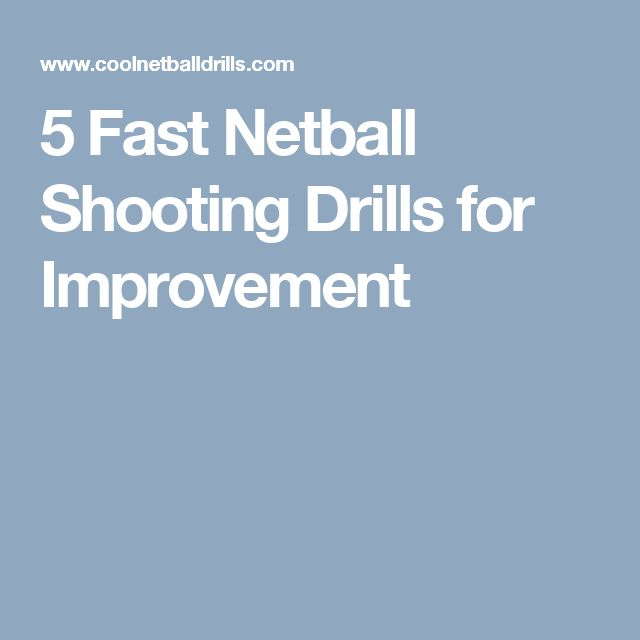 Some great netball shooting drill here. Some new netball equipment might help you improve your skills too! Take a look at http://www.bishopsport.co.uk/netball.html