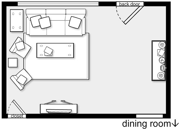 Living room layout ergonomia e detalhes tecnicos for Living room furniture plan
