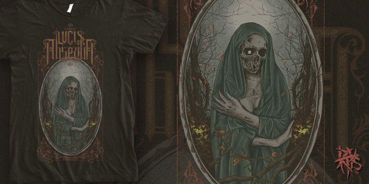 """Lucis Absentia- Dark Nature"" t-shirt design by RectopusArt"