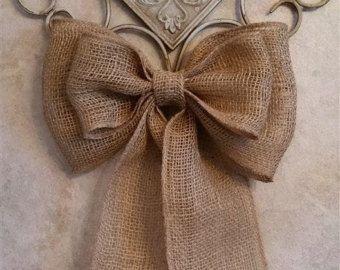 Arpillera arco boda Pew arco arpillera boda boda rústica silla arco guirnalda arco pasillo decoración arpillera encaje arco