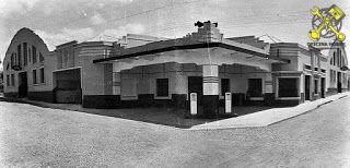 Foto-propaganda mostrando as novas instalações da Agência Ford em Itararé SP.