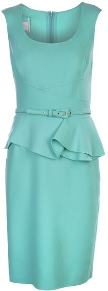 OSCAR DE LA RENTA Sleeveless Peplum Sheath Dress