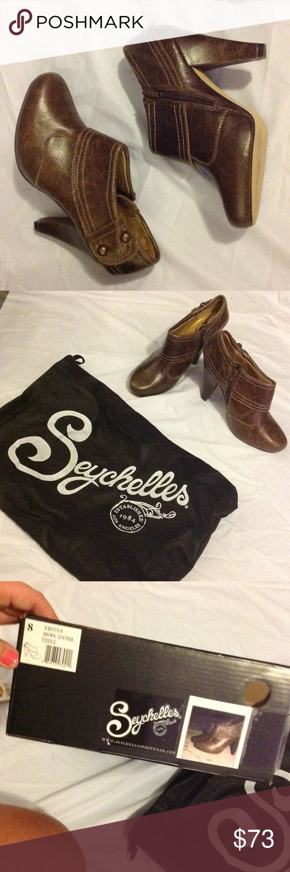 Fall Must Have 🍁 Seychelles Fiddle- Leather Worn 1 time, they are super cute!! ♥️♥️ you need this for the fall! Brown leather Fiddle with dust bag!! Seychelles Shoes