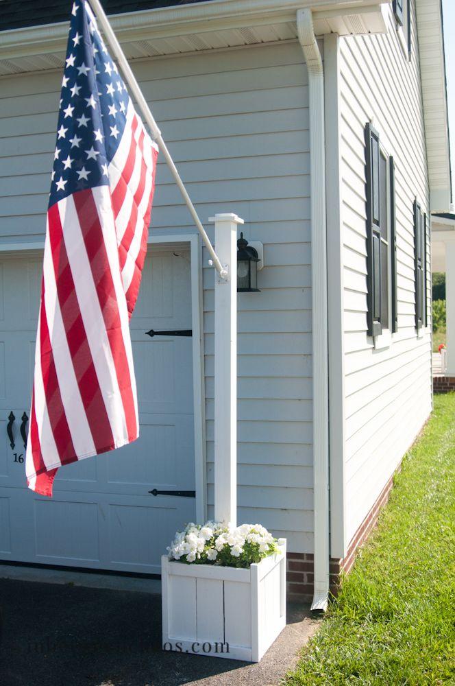 Flag Pole Planter Inbetweenchaos Com Diy Patio Diy