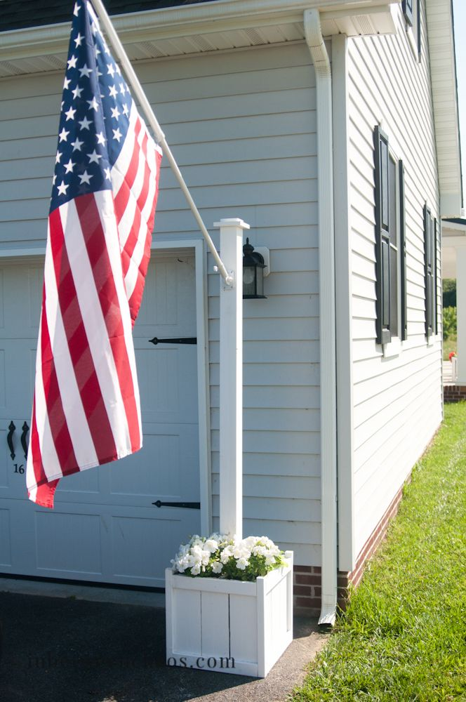 wonderful home flag #4: Flag Pole Planter | inbetweenchaos.com