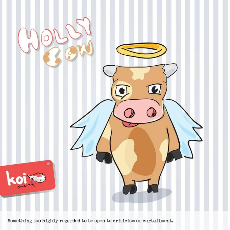 Twisted Words - Holly Cow  (illustartion poster)