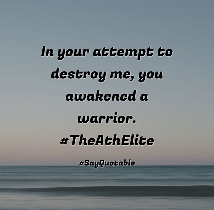 Quotes about In your attempt to destroy me, you awakened a warrior. #TheAthElite  with images background, share as cover photos, profile pictures on WhatsApp, Facebook and Instagram or HD wallpaper - Best quotes