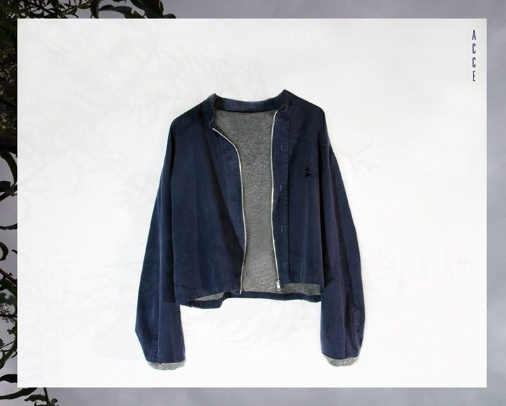 """The first of all called """"Stardust"""". Blue on the outside, grey, comfy and hawty on the inside. Ideal for spring wind!"""