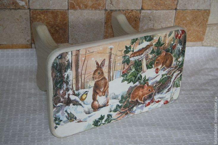 """Купить Детская скамейка """"Зима в лесу"""" - скамейка, детская комната, интерьер детской, банкетка, детская"""