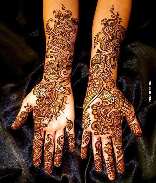 Bridal Mehndi Designs...would be perfect for a lovely full or partial sleeve - but in black and gray!